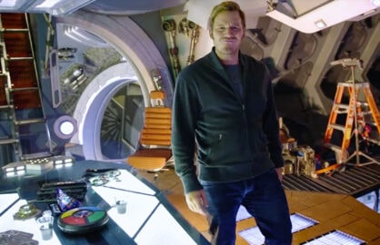 Chris Pratt Gives GOTG tour