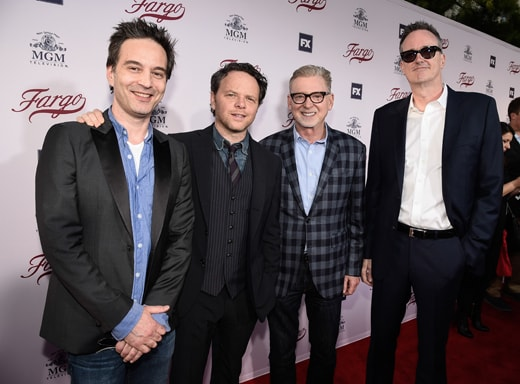 LOS ANGELES - APRIL 28: From left to right, Composer Jeff Russo; Executive Producer/Showrunner/Writer, <a href=
