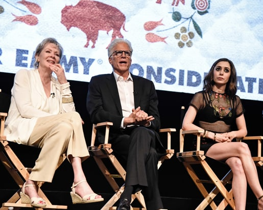 LOS ANGELES - APRIL 28: Actress Jean Smart, actor Ted Danson, and actress Cristin Milioti at the Q&A panel for FX Networks 'Fargo' TV Academy For Your Consideration <a href=