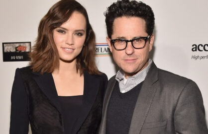 Daisy Ridley and JJ Abrams
