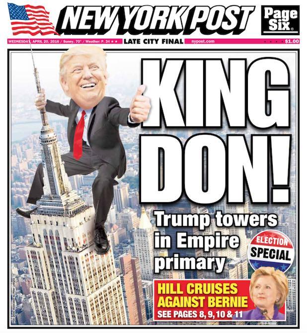 Donald Trump King NY Post