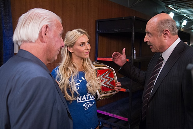 Dr Phil, Charlotte and Ric Flair at WWE