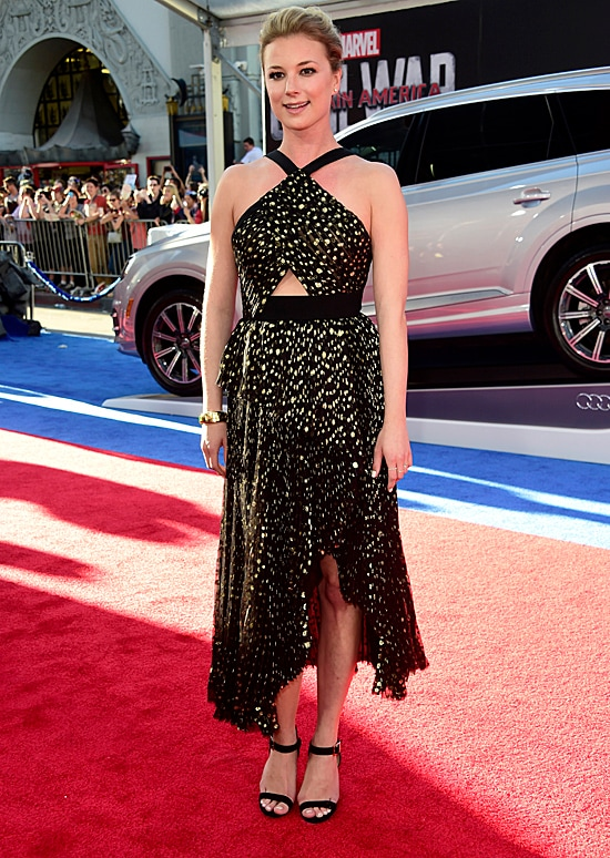 Emily VanCamp Captain America Civil War Premiere