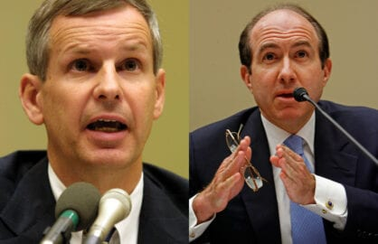 Charlie Ergen of Dish and Philippe Dauman of Viacom