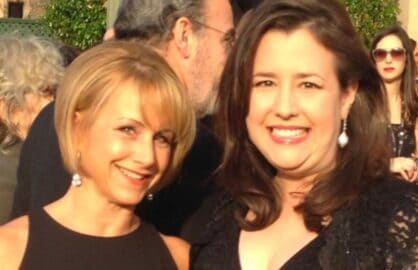 Gabrielle Carteris and Rebecca Damon