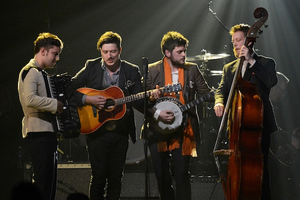 Mumford & Sons performs onstage
