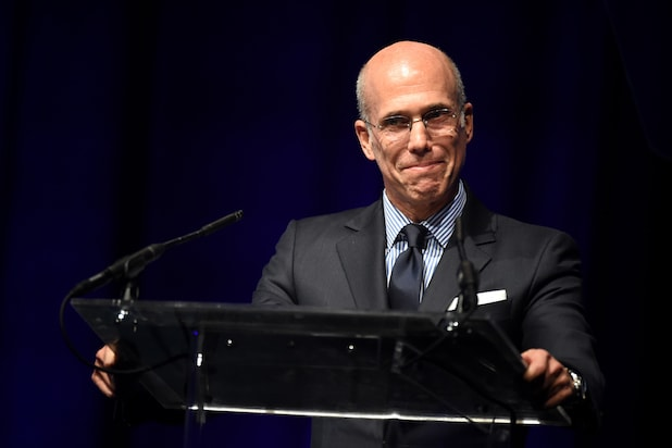 DreamWorks Animation CEO Jeffrey Katzenberg speaks onstage