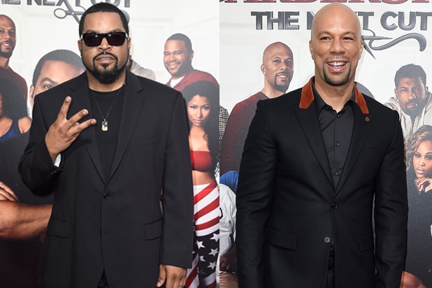 Ice Cube and Common at Barber Shop Next Cut Premiere
