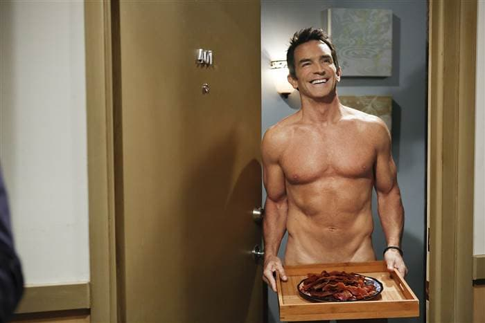 Jeff Probst Naked on Two and a Half Men (CBS)