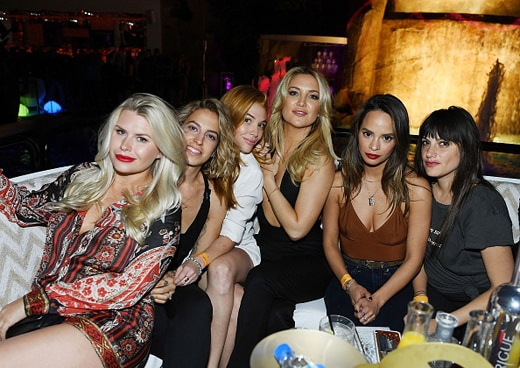 LAS VEGAS, NV - APRIL 29: Actress Kate Hudson (3rd from R) attends the grand opening of Intrigue nightclub at Wynn Las Vegas on April 29, 2016 in Las Vegas, Nevada. (Photo by Denise Truscello/Getty Images for Wynn Las Vegas)