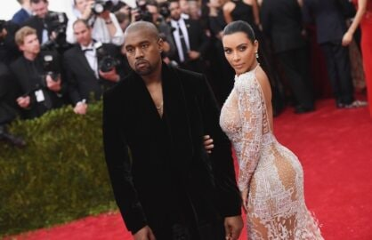 Kim Kardashian and Kayne West at the 2014 Met Gala (Getty Images)