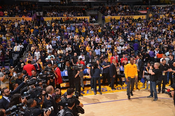 Kobe Bryant last game media frenzy