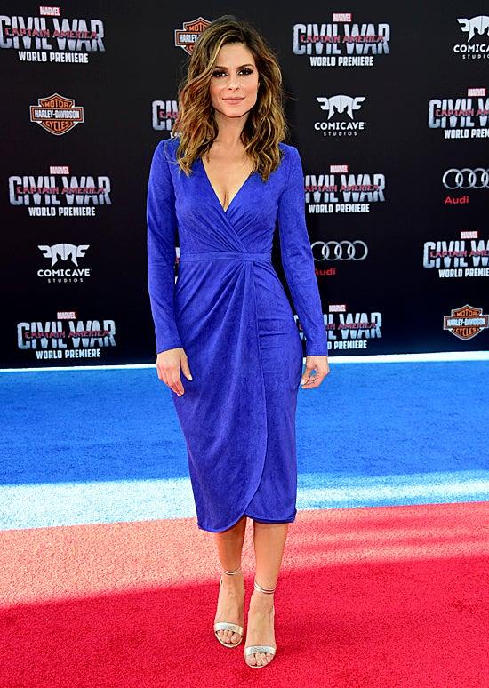 Maria Menounos attends the premiere of Marvel's Captain America: Civil War