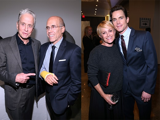 Michael Douglas, Jeffrey Katzenberg, Julie Darmody, Matt Bomer - Getty Images