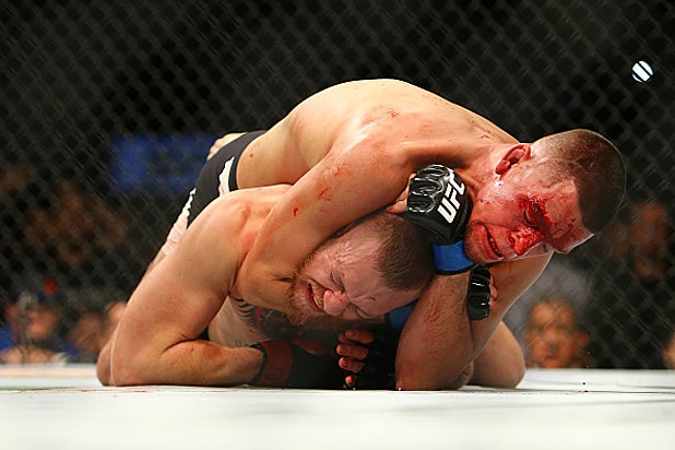 Nate Diaz and Conor McGregor Chokehold
