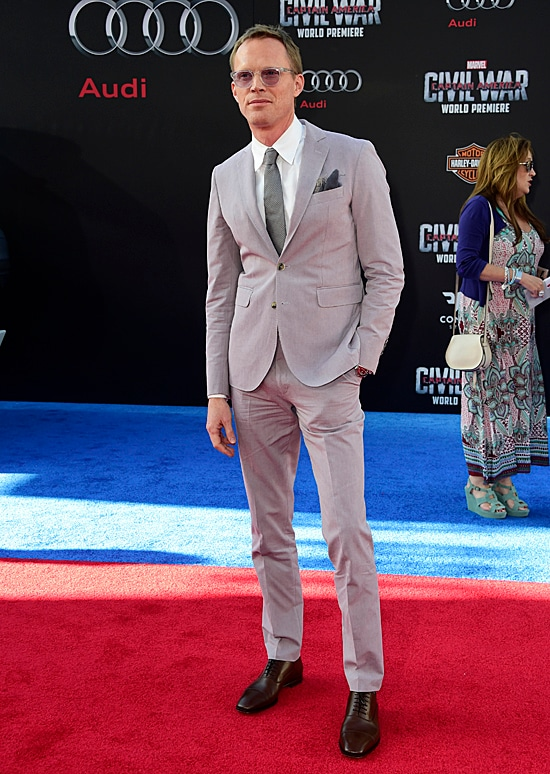 Paul Bettany attends the premiere of Marvel's Captain America: Civil War