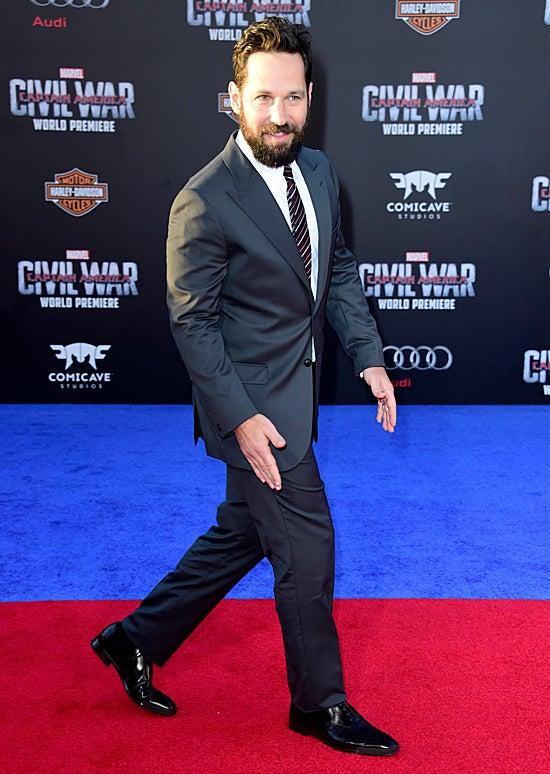 Paul Rudd attends the premiere of Marvel's Captain America: Civil War