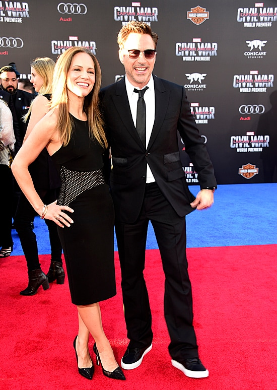 Susan Downey and Robert Downey Jr. attends the premiere of Marvel's Captain America: Civil War