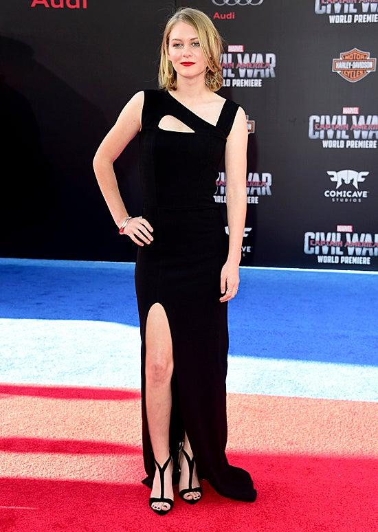 Ryan Simpkins attends the premiere of Marvel's Captain America: Civil War