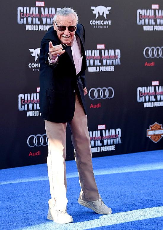 Stan Lee at Captain America: Civil War