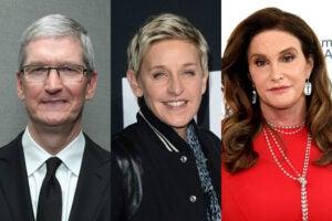 Tim Cook Ellen Degeneres Caitlyn Jenner Out Magazine