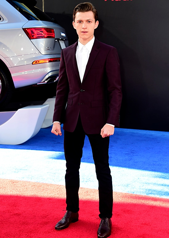 Tom Holland attends the premiere of Marvel's Captain America: Civil War
