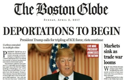 Trump Boston Globe April 2017