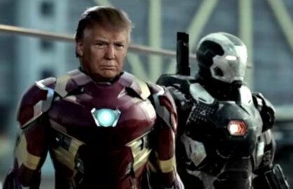 Trump/Avengers mashup