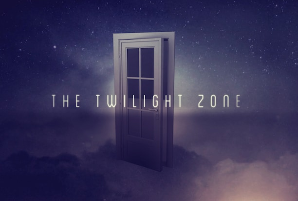 "The logo for Interlude and CBS' revival of ""Twilight Zone"""