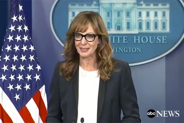 Allison Janney White House Press Briefing