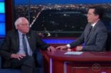 berne sanders late show with stephen colbert