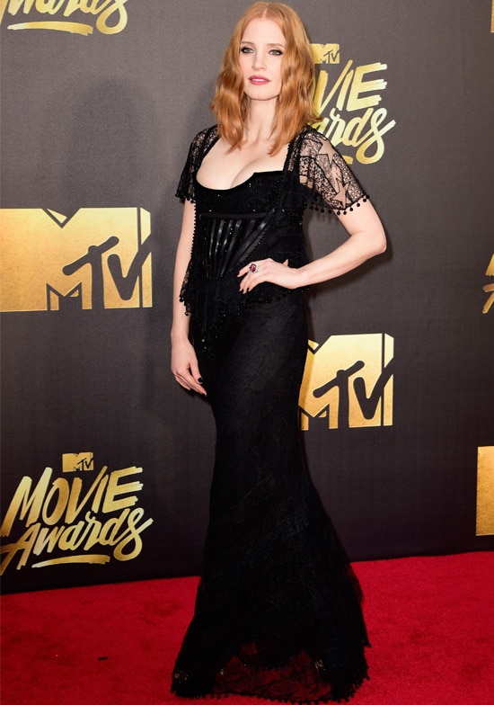 jessica chastain mtv movie awards