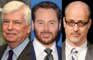 Chris Dodd, Sean Parker and John Fithian