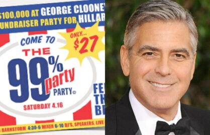george clooney bernie sanders fundraisers