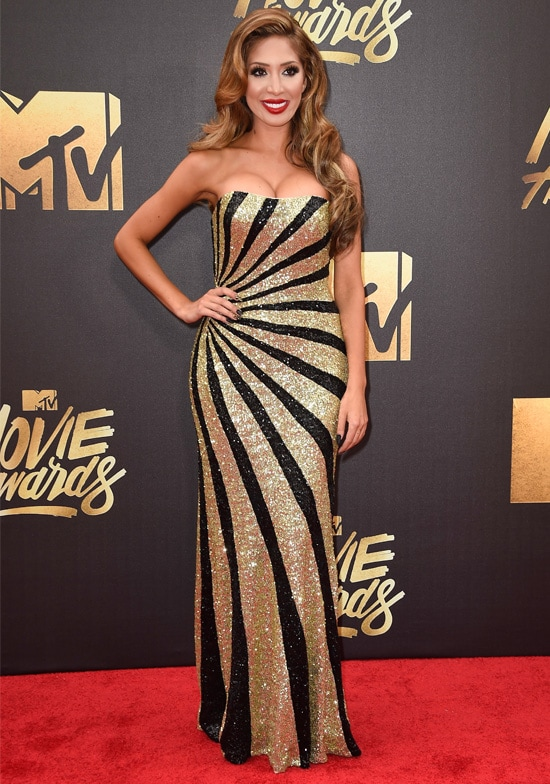 TV personality Farrah Abraham attends the 2016 MTV Movie Awards at Warner Bros. Studios on April 9, 2016 in Burbank, California. MTV Movie Awards airs April 10, 2016