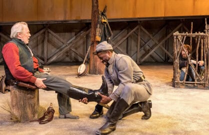 "Michael McKean, Sterling K. Brown and Josh Wingate in ""Father Comes Home From The Wars (Parts 1, 2 & 3)"" at Center Theatre Group/Mark Taper Forum"