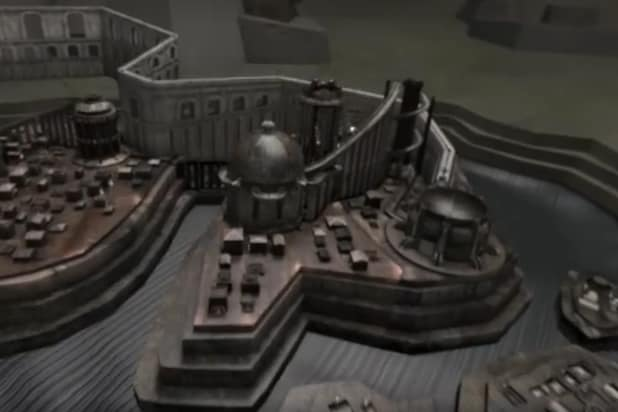 """A screenshot from an interactive map based on """"Game of Thrones"""" opening sequence"""