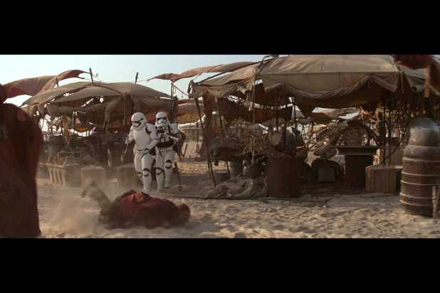 guy who gets knocked over by the bad stormtroopers