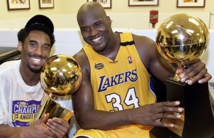 Kobe wins first title with the Lakers in 2000