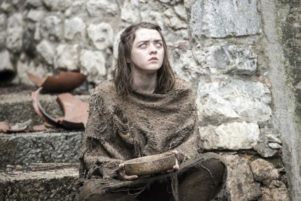 maisie williams arya game of thrones season 6