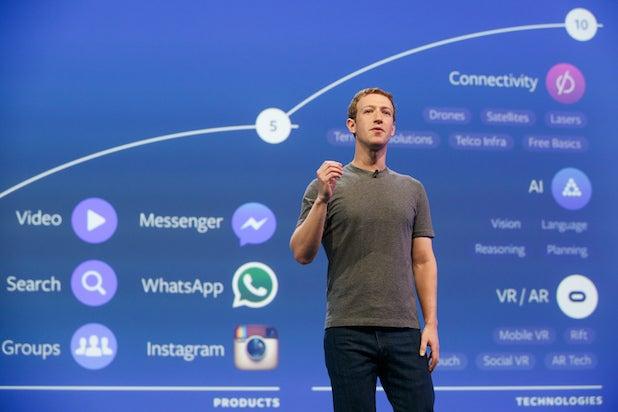 Facebook CEO Mark Zuckerberg at Facebook's F8 conference