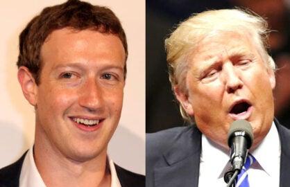 mark zuckerberg donald trump