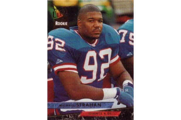 michael strahan rookie card