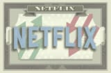 Netflix logo on the iconography of a dollar bill