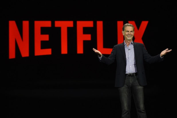 Netflix CEO Reed Hastings delivers a keynote address at CES 2016