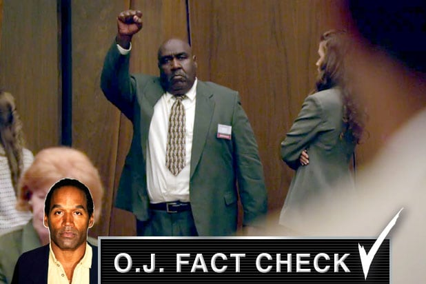oj fact check black fist juror