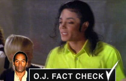 oj fact check michael jackson lime green