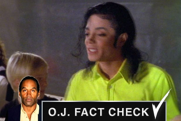 oj fact check michael jackson lime green