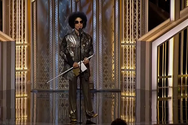 Prince at Golden Globes 2015
