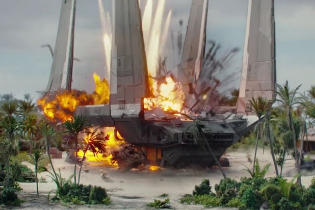 shuttle exploding rogue one